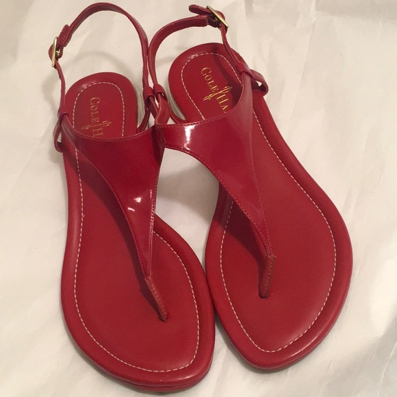 a6b3015b00f Cole Haan Shoes - 8.5 COLE HAAN + NIKE Red Leather AIR BRIA Sandals